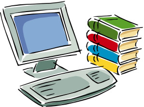 free-online-computer-clipart-1 image of computer and stack of books